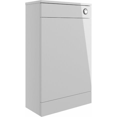 Signature Aalborg Back to Wall WC Toilet Unit 500mm Wide - Grey Gloss