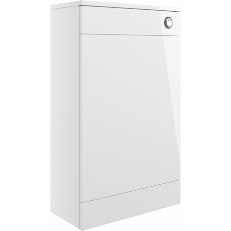 Signature Aalborg Back to Wall WC Toilet Unit 500mm Wide - White Gloss