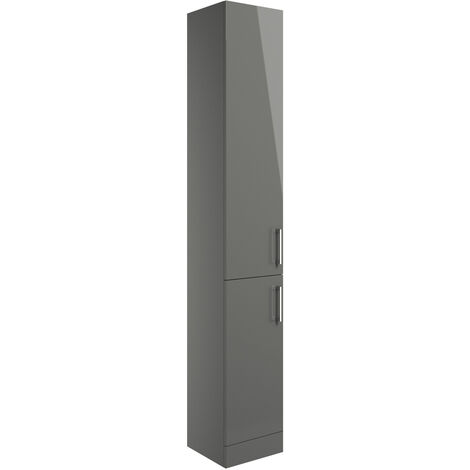 Signature Aalborg Floor Standing 2-Door Tall Unit 300mm Wide - Grey Gloss