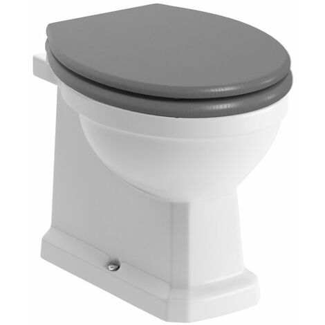 Signature Aphrodite Back To Wall Toilet 535mm Projection - Grey Ash Wooden Effect Seat