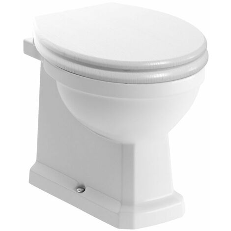 Signature Aphrodite Back To Wall Toilet 535mm Projection - Soft Close Satin White Seat