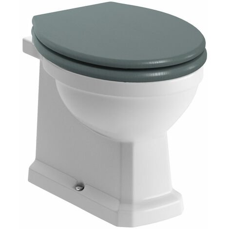 Signature Aphrodite Back To Wall Toilet 535mm Projection - Soft Close Sea Green Seat