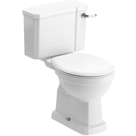 Signature Aphrodite Close Coupled Toilet with Lever Cistern - Soft Close Seat