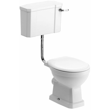 Signature Aphrodite Low Level Toilet with Lever Cistern - Soft Close Seat