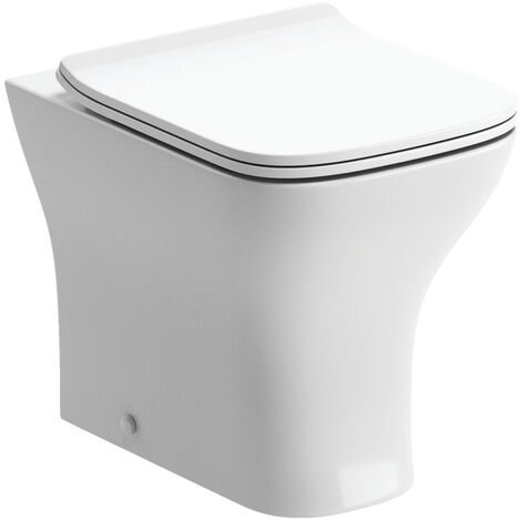 Signature Aztec Back To Wall Toilet 540mm Projection - Soft Close Slimline Seat