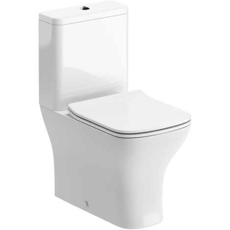Signature Aztec Close Coupled Toilet with Push Button Cistern - Soft Close Seat