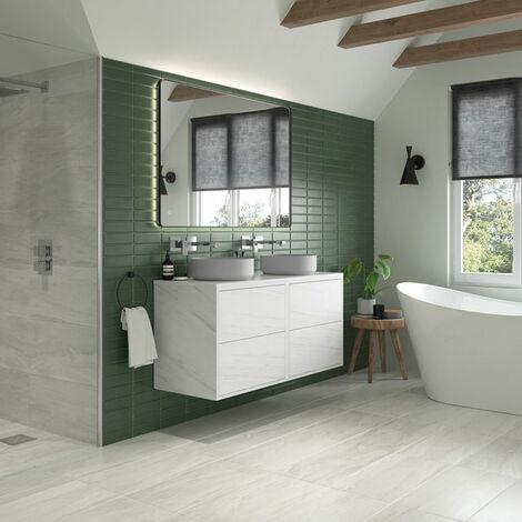 Signature Backlit LED Angled Frame Bathroom Mirror 800mm H x 600mm W