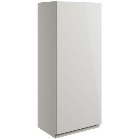 Signature Bergen Wall Hung 1-Door Storage Unit 300mm Wide - Pearl Grey Gloss