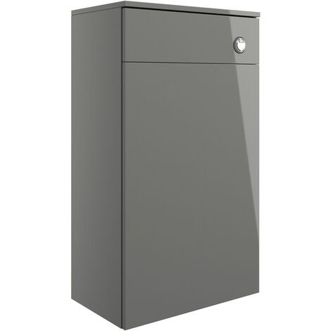 Signature Butler Back to Wall WC Toilet Unit 500mm Wide - Grey Gloss
