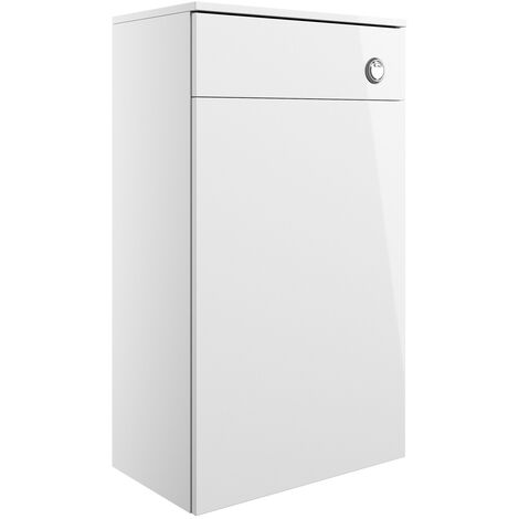 Signature Butler Back to Wall WC Toilet Unit 500mm Wide - White Gloss