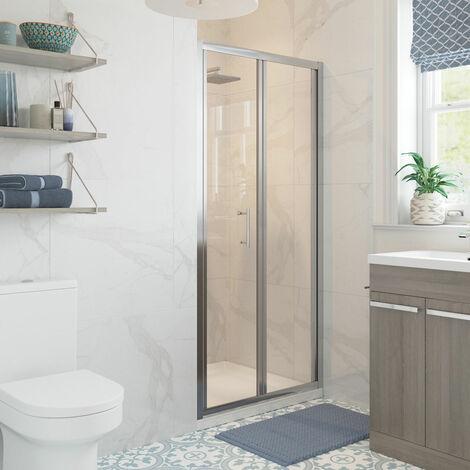 Signature Classix Bi-Fold Shower Door 700mm Wide - 5mm Glass