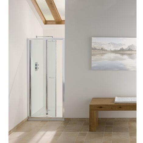 Signature Contract Bi-Fold Shower Door 1830mm H x 750mm W - 6mm Glass