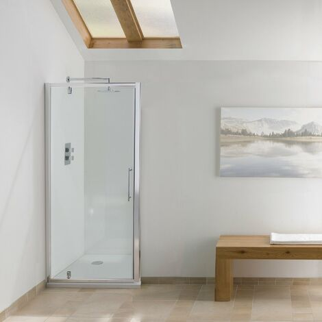 Signature Contract Pivot Shower Door 1830mm H x 750mm W - 6mm Glass