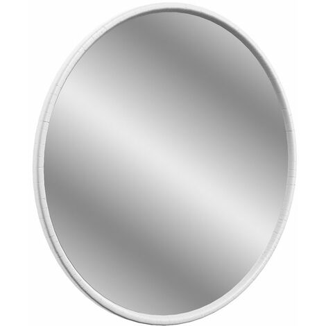 Signature Copenhagen Round Bathroom Mirror 550mm Diameter - Satin White