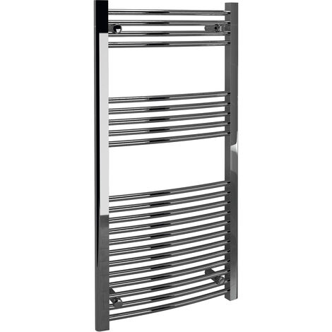 Signature Curved Heated Towel Rail 1200mm High x 500mm Wide - Chrome