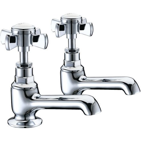 Signature Eterno2 Basin Taps Pair Deck Mounted - Chrome