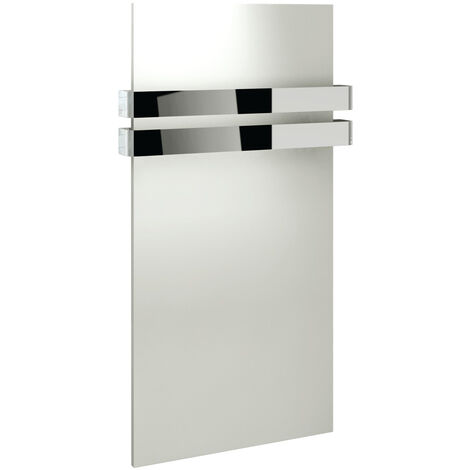 Signature Flat Panel Radiator with Movable Towel Rails 917mm High x 508mm Wide - White