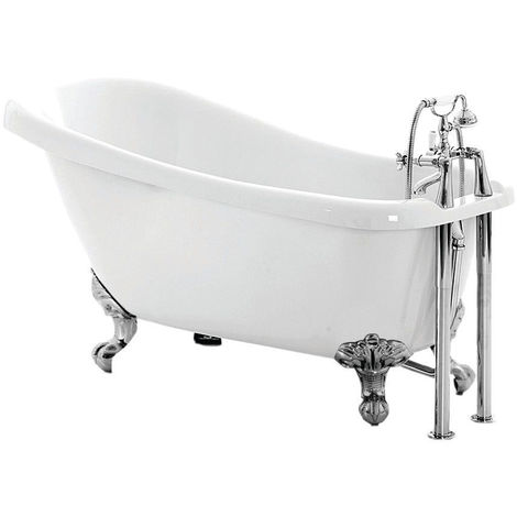 Signature Freestanding Slipper Bath with Feet 1550mm x 710mm - 2 Tap Hole