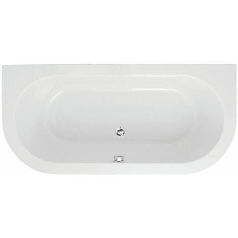 """main image of """"Signature Hera Double Ended Back to Wall Bath 1700mm x 800mm - 0 Tap Hole"""""""