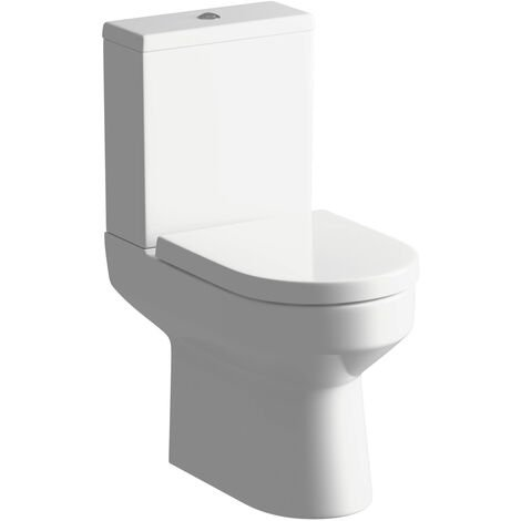 Signature Inca Close Coupled Toilet with Push Button Cistern - Soft Close Seat