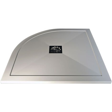 Signature Inca Quadrant Ultraslim Shower Tray with Waste 800mm x 800mm - White