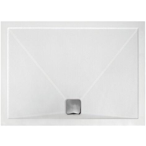 Signature Inca Rectangular Anti-Slip Shower Tray with Waste 1200mm x 800mm - Ultraslim