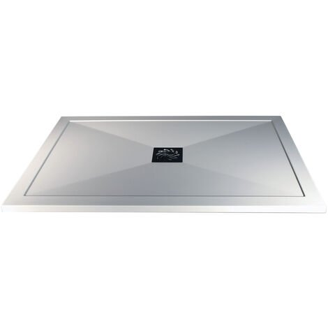 Signature Inca Rectangular Ultraslim Shower Tray with Waste 1100mm x 900mm - White