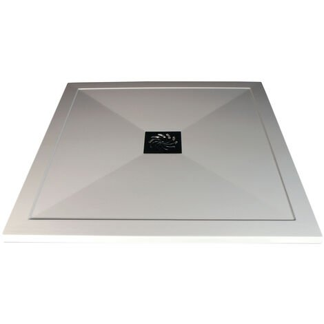 Signature Inca Square Ultraslim Shower Tray with Waste 900mm x 900mm - White
