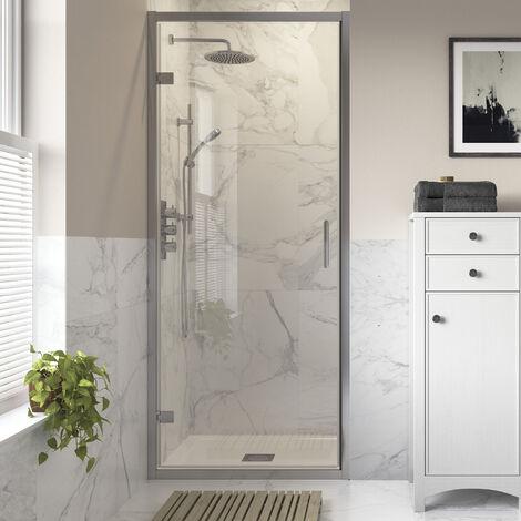 Signature Inca8 Hinged Shower Door 760mm Wide - 8mm Glass