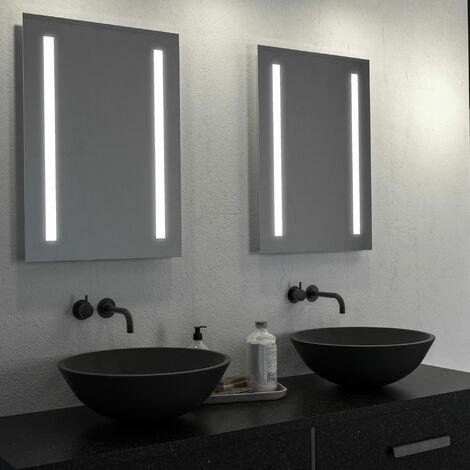 Signature LED Battery Bathroom Mirror 500mm H x 700mm W