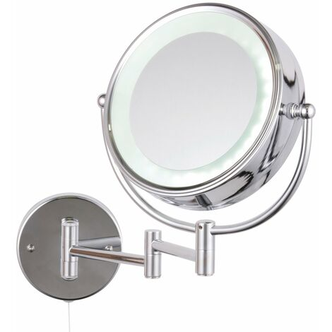 Signature LED Cosmetic Magnifying Mirror - Silver