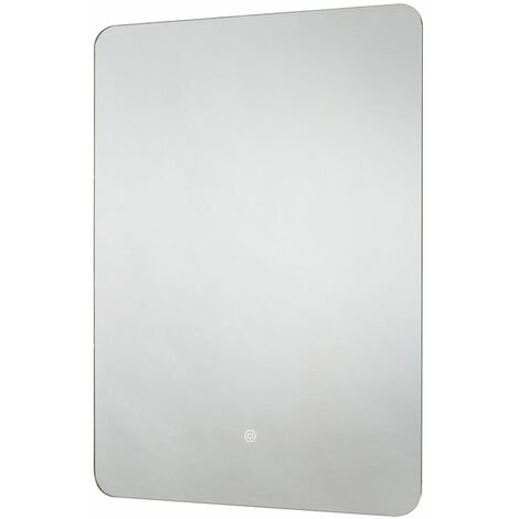 Signature LED Rotatable Bathroom Mirror with Demister Pad 800mm H x 600mm W - Chrome