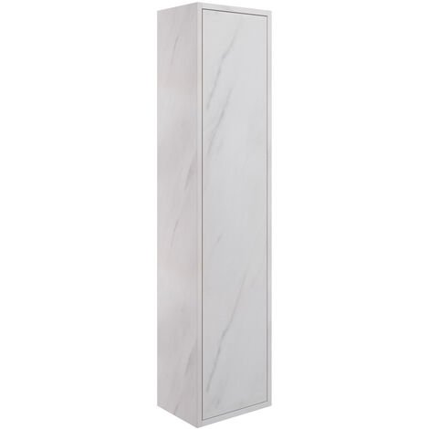 Signature Lund Wall Hung 1-Door Tall Unit 300mm Wide - Marble
