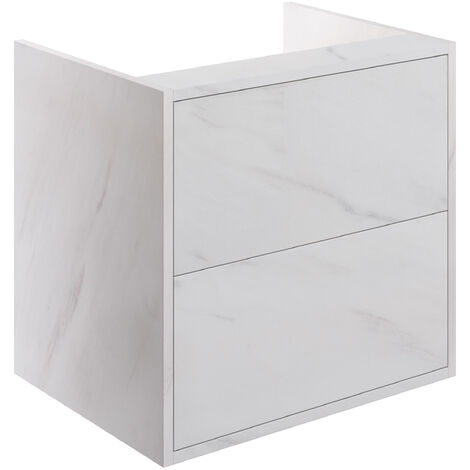 Signature Lund Wall Hung 2-Drawer Vanity Unit 600mm Wide - Marble