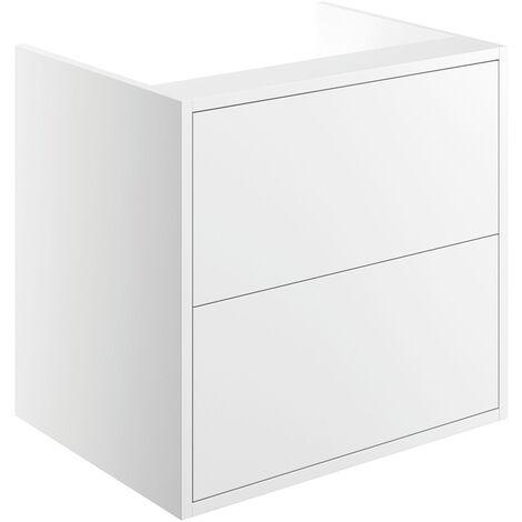 Signature Lund Wall Hung 2-Drawer Vanity Unit 600mm Wide - Matt White