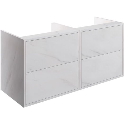 Signature Lund Wall Hung 4-Drawer Vanity Unit 1200mm Wide - Marble