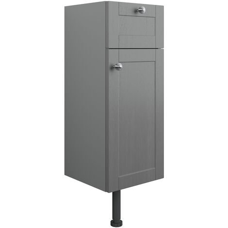 Signature Malmo Floor Standing 1-Door and 1-Drawer Base Unit 300mm Wide - Grey Ash