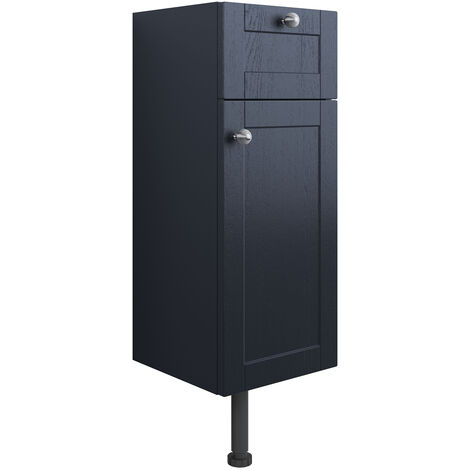 Signature Malmo Floor Standing 1-Door and 1-Drawer Base Unit 300mm Wide - Indigo Ash