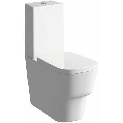 Signature Maya Close Coupled Toilet with Push Button Cistern - Soft Close Seat