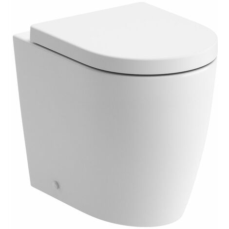 Signature Nazca Back to Wall Rimless Toilet 520mm Projection - Soft Close Seat