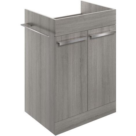 Signature Odense Floor Standing 2-Door Vanity Unit 600mm Wide - Elm Grey