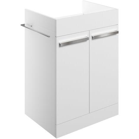 Signature Odense Floor Standing 2-Door Vanity Unit 600mm Wide - White Gloss