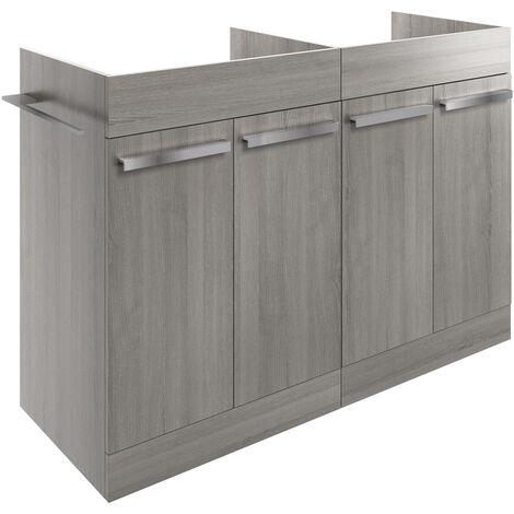 Signature Odense Floor Standing 4-Door Vanity Unit 1200mm Wide - Elm Grey