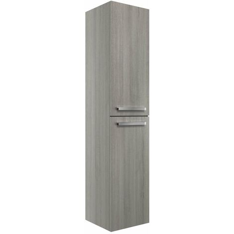 Signature Odense Wall Hung 2-Door Tall Unit 350mm Wide - Elm Grey