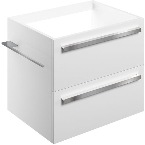 Signature Odense Wall Hung 2-Drawer Vanity Unit 600mm Wide - White Gloss
