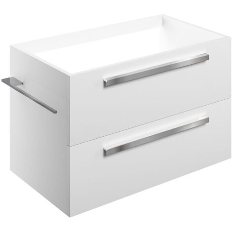 Signature Odense Wall Hung 2-Drawer Vanity Unit 800mm Wide - White Gloss