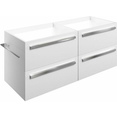 Signature Odense Wall Hung 4-Drawer Vanity Unit 1200mm Wide - White Gloss