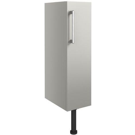 Signature Oslo Floor Standing 1-Door Toilet Roll Unit 200mm Wide - Light Grey Gloss
