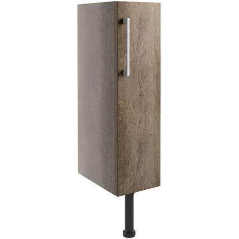 Signature Oslo Floor Standing 1-Door Toilet Roll Unit 200mm Wide - Nebraska Oak