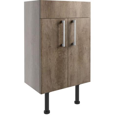 """main image of """"Signature Oslo Floor Standing 2-Door Vanity Unit 500mm Wide - Nebraska Oak"""""""